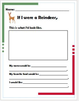 Reindeer Writing Prompt