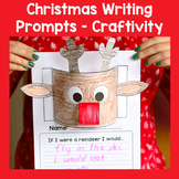 Reindeer Writing Prompts Craftivity - Christmas Writing Prompts Craft