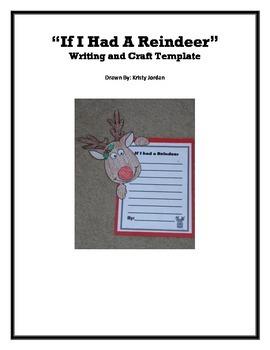 Reindeer Writing and Craft