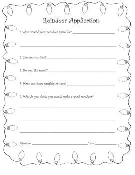 Reindeer and elf application