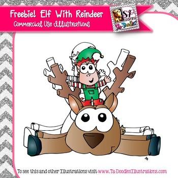 Reindeer and Elf  FREEBIE