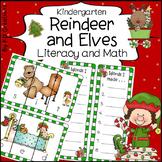 Christmas Reindeer and Elves in Kindergarten Literacy and