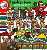 Reindeer barn clip art