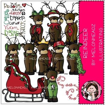 Reindeer clip art - COMBO PACK- by Melonheadz