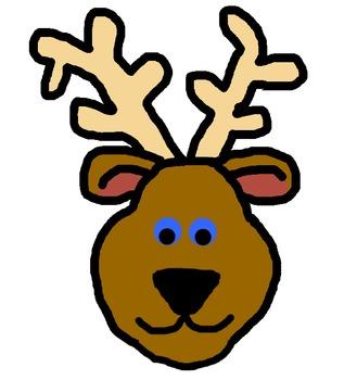 Reindeer--chubby face doodle