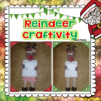 Reindeer craftivity and fun pack