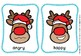 Reindeer emotion flash cards