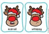 Reindeer emotion flash cards(free)