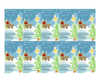 Reindeer homework pass