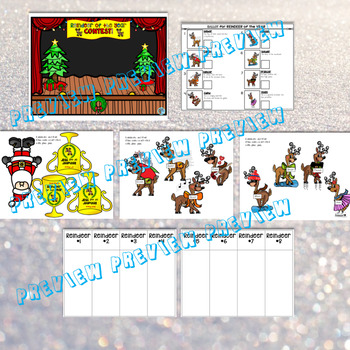 Reindeer of the Year! BOOK COMPANION puppets Autism Special Ed Sentence builder