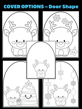 Reindeer with Stocking & Gifts - Moonju Makers for Activities, Craft, Writing