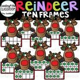 Reindeer Ten Frames Clip Art {Reindeer Clip Art}