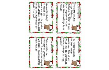Reindeers Rollin' in the Dough Money Skills Scoot Game