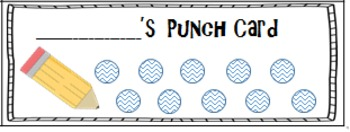 Reinforce Positive Behavior!Punch Cards (24) - Fun School Theme Punch Cards!