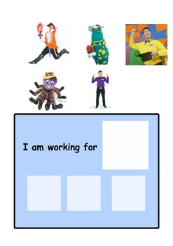 Reinforcement Card for Children with ASD (Wiggles)