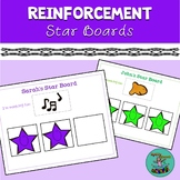 Reinforcement Star Boards for Teachers, SLPs, OTs, PTs, etc. Editable!