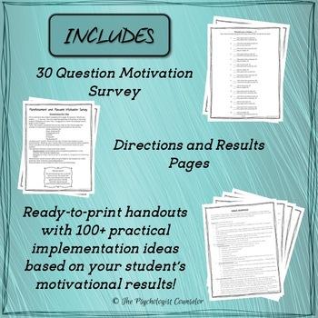 Reinforcement and Reward Motivation Survey