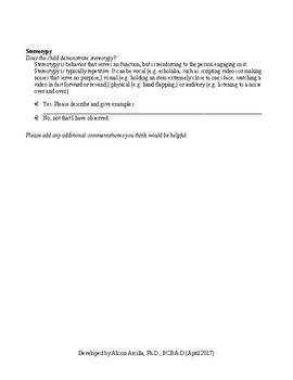 Reinforcer Assessment