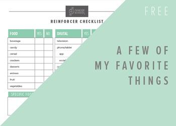 Reinforcer Checklist