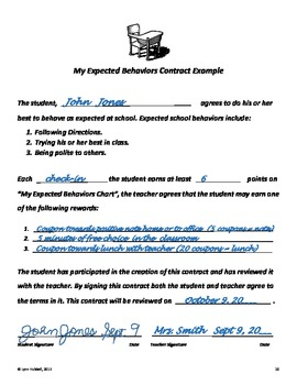 Reinforcing Expected School Behaviors: A Flexible Student Behavior Plan Packet