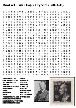 Reinhard Heydrich - Nazi Germany Word Search