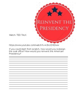 Reinvent the Presidency