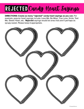 Free Valentine Rejected Candy Hearts Activity