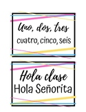 Attention Getters for Spanish Class (Señorita Version)