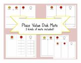 Place value disks mat