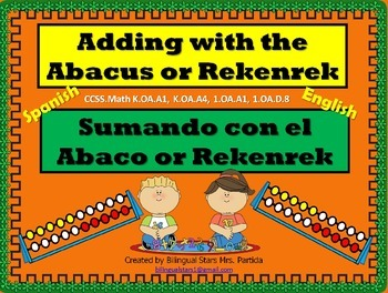 Rekenrek-Abaco FREEBIE Printable -Center-Hojas-Centro Bilingual Stars Mrs