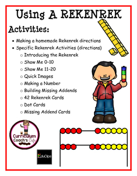 Rekenrek Activities:  Directions, Cards, Dot Cards, Missing Addends