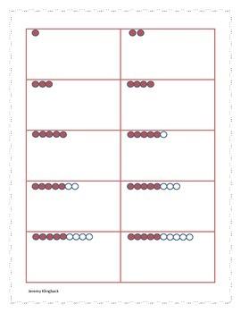 Rekenrek (Arithmetic Rack) & 10 Frame Addition and Subtraction Matching Center
