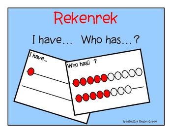 Rekenrek-  I have... Who has...?