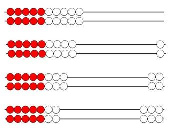 Rekenrek / Math Rack Cards 0-20
