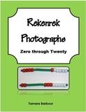 Rekenrek Photographs for Zero through Twenty