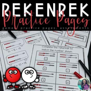 Rekenrek Practice Sheets