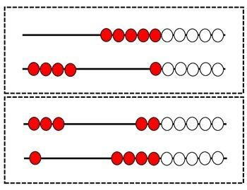 Rekenrek Quick Image Cards for Sums 0-20