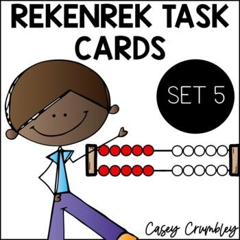 Rekenrek Task Cards Set 5 Focused on 10 Common Core Aligned
