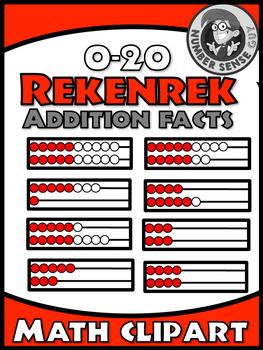 Rekenrek addition math clipart