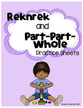 Rekenrek and Part-Part-Whole Practice Sheets