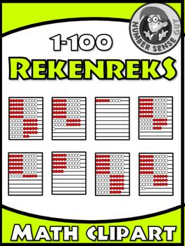 Rekenrek math clipart 0-100