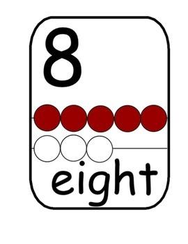 Rekenrek or Math Rack Number Wall Posters