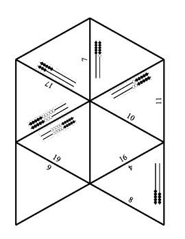 Rekenrek puzzle 3 through 20