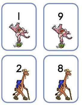 Rekentas oefenen met getallen van 1-10