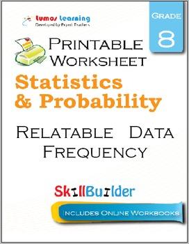 Relatable Data Frequency Printable Worksheet, Grade 8