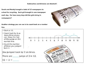 Relate Subtraction and Division