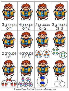 Relating Addition to Multiplication Quick and Easy to Print Center & Printables