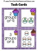 Relate Addition to Multiplication Task Cards Recording She