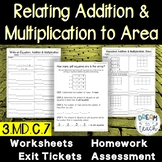 Relate Addition to Multiplication for Area of Arrays 3.MD.c.7