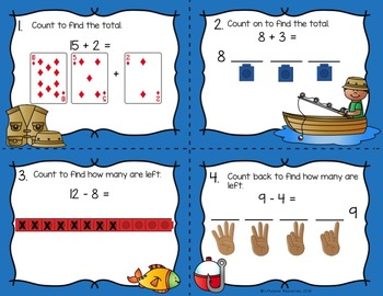 Relate Counting to Addition and Subtraction Game and Printables